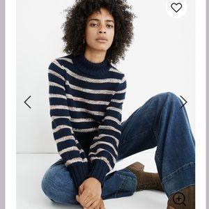 Madewell Striped Metcalf Mockneck Sweater NWT XL